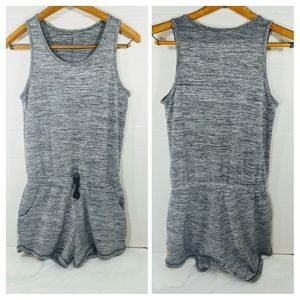 New Lucy Activewear Gray Shorts Romper Stretcy